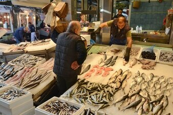 Fresh fish market