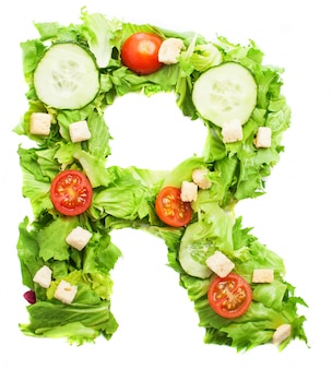 Fresh food for letter r