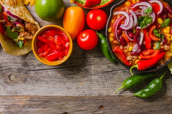 Fresh mexican ingredients