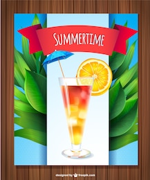 Fresh summer drink vector