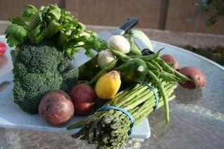 Fresh vegetables, greenbeans