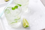 Fresh water with mint and lemon