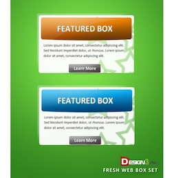 fresh web featured box ui element set psd