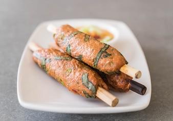 Жареная паста из рыбы-пасты
