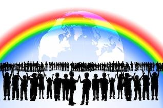 friendship play rainbow worldwide many children