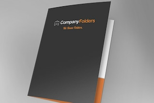Front Open Folder Mockup Template Free PSD