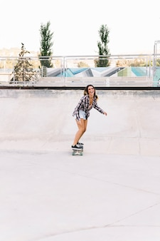 Front view of skater girl
