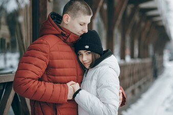 Frost man romance woman happy