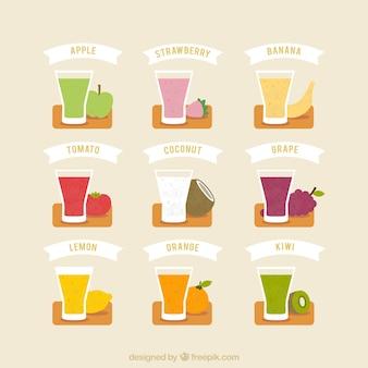 Fruit milkshakes