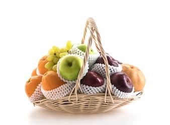 バスケットの果物