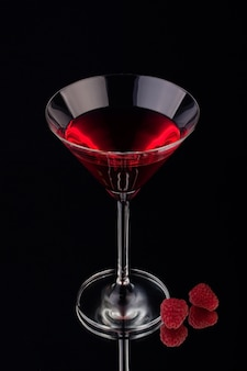 Fruity liqueur with black background
