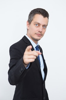 Frustrated businessman shocked with news