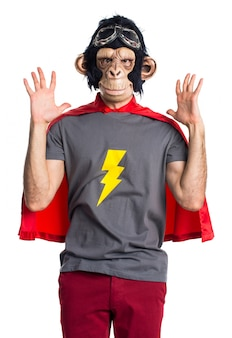 Frustrated Superhero monkey man
