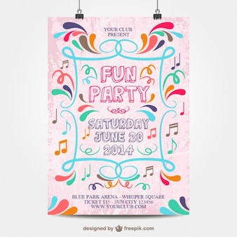 Fun party poster mock-up