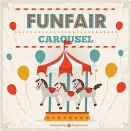 Funfair vector free illustration