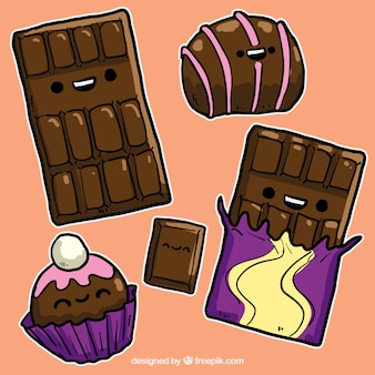 Funny chocolate sweets
