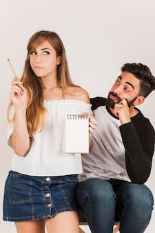 面白いカップルのメモ帳
