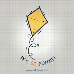Funny kite illustration