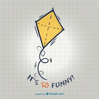 Funny kite illustration