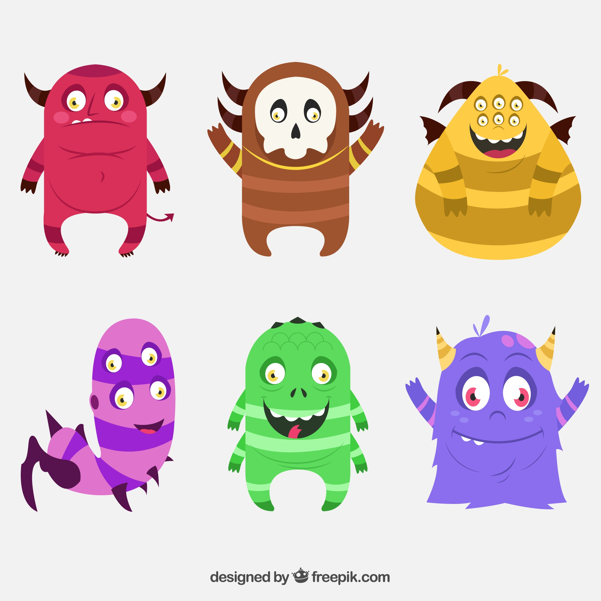 Funny monsters collection