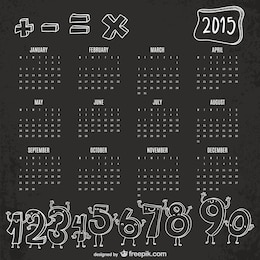 Funny numbers 2015 calendar