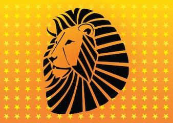 Furious animal Lion head vector