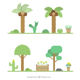 Gardens in icon style