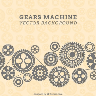 Gears machine background in pattern style