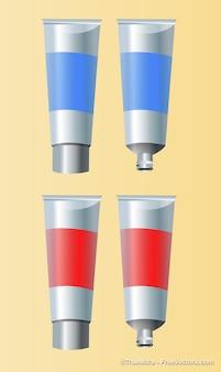 Gel tubes object backgrounds vector set