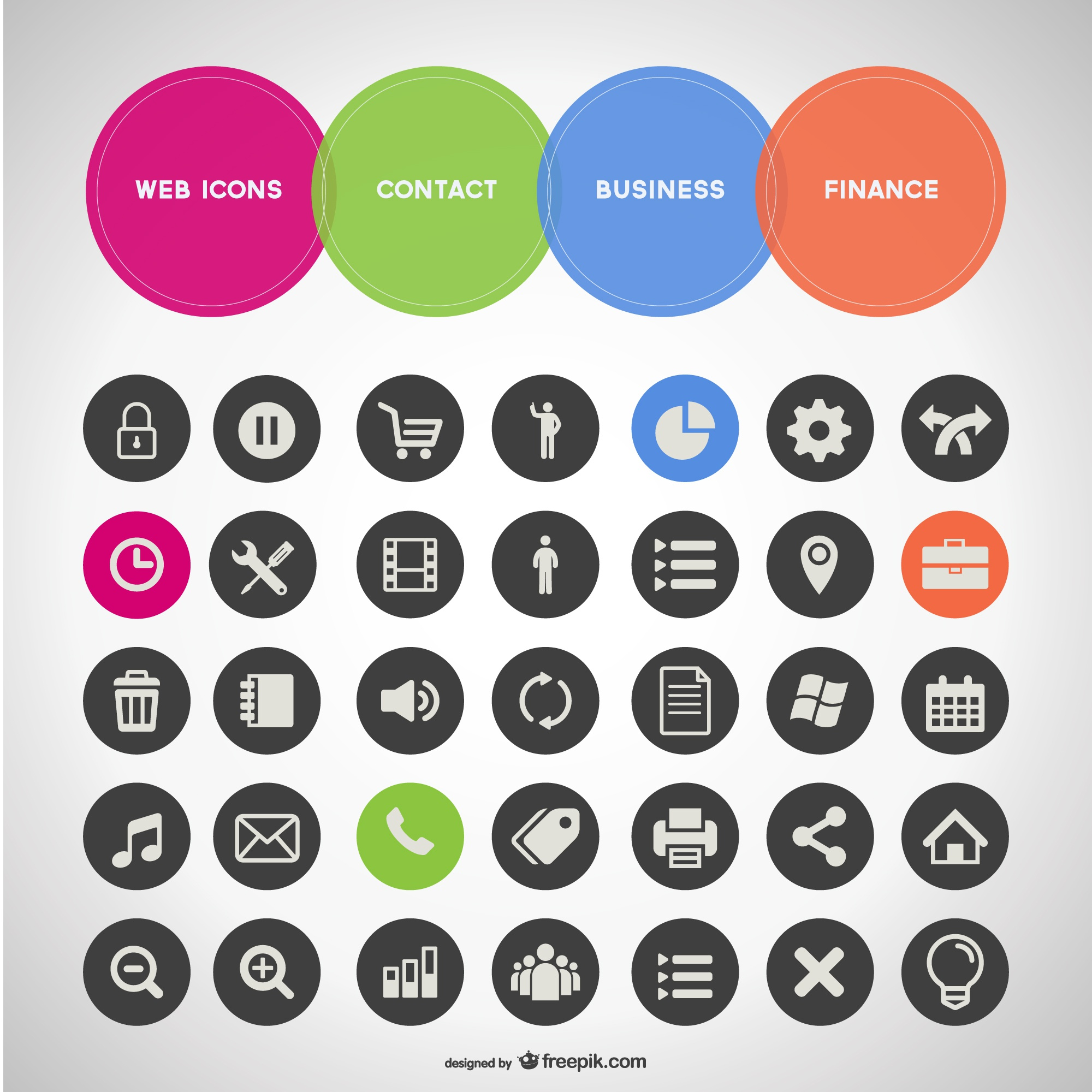 General business set of icons