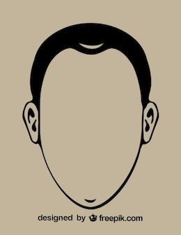Gentleman Head Contour Icon
