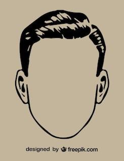 Gentleman Head Outline Drawing