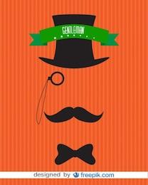 Gentleman Invisible Men Vintage Poster Design