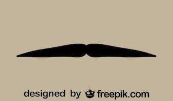 Gentleman's Mustache Minimalist Icon Retro Style
