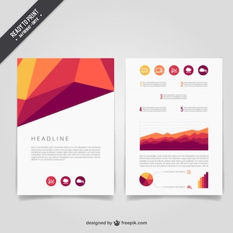 Geometric abstract brochure