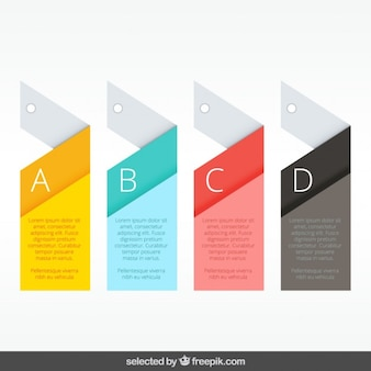 Geometric and colorful labels infographics