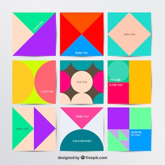 Geometric cards collection