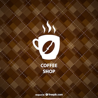 Geometric coffee shop background