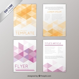 Geometric flyers pack