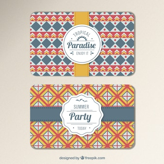 Geometric invitation card for summer party