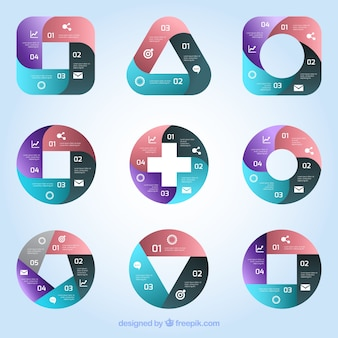 Geometric shapes infographic