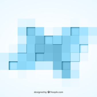 Geometrical background with blue squares