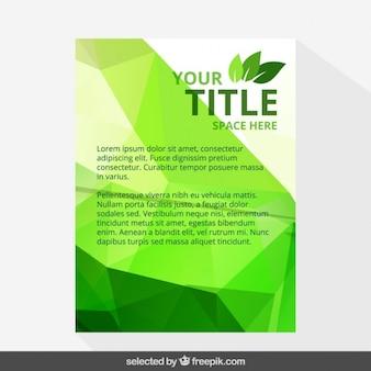 Geometrical eco flyer template