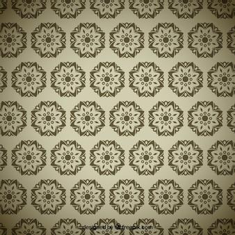 Geometrical flowers pattern