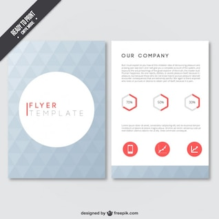Geometrical flyer template