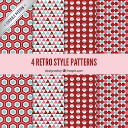 Geometrical retro pattern