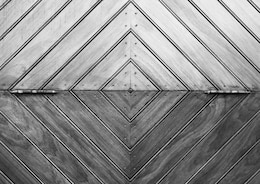 Geometrical wooden composition