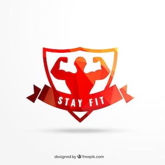 Geometrical workout emblem