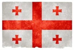 georgia grunge flag  east