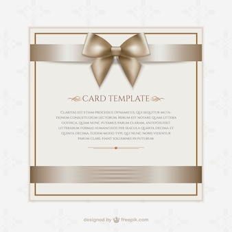 Gift card template
